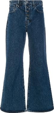 Levi's Made & Crafted Classic Wide Leg Jeans Women Cottoncalf Leather 28, Blue