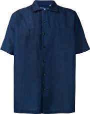 Levi's Made & Crafted Short Sleeve Shirt Unisex Cottonlinenflax 3, Blue