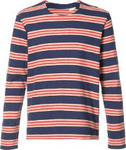 Levi's Made & Crafted Striped T Shirt Men Cotton 1, Blue