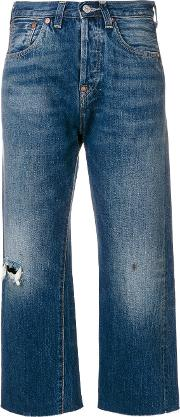 Cropped Stonewashed Jeans