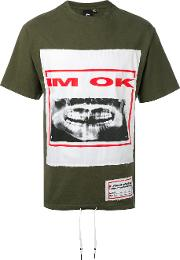 Printed T Shirt Men Cotton M, Green