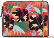 'cuban Hibiscus' Clutch Women Leather One Size