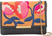 Embroidered Flowers Clutch Bag Women Acetate One Size