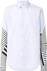 Patchwork Sleeves Shirt