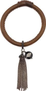 Diamond Eye Charm Tassel Bracelt
