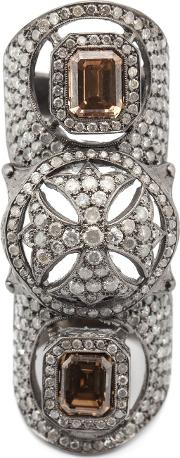 Maltese Cross Bondage Diamond Ring