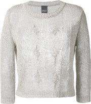 Cable Knit Jumper Women Linenflaxpolyesterviscose 40, Nudeneutrals