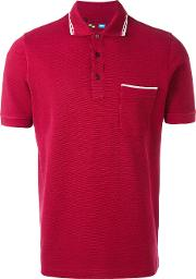 Classic Polo Top Men Cotton S, Red