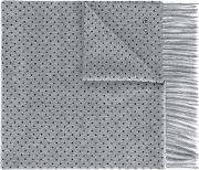 Dotted Scarf Men Cashmere One Size, Grey