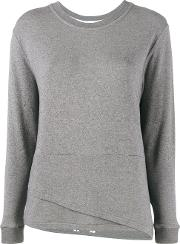 Double Hem Sweater Women Modalpolyamidespandexelastanecashmere S, Grey
