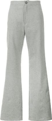 Flared Trousers Women Polyesterviscosewool 29, Grey