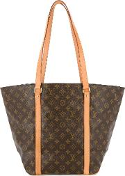 Louis Vuitton Vintage Sac Shopping Shoulder Tote Women Leather One Size, Brown
