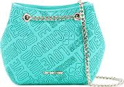 Branded Pouch Bag Women Polyurethane One Size, Green