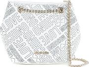 Branded Pouch Bag Women Polyurethane One Size, White