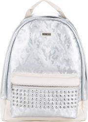 Camouflage Studded Backpack Men Artificial Leather One Size, White