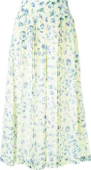 Floral Print Wide Legged Cropped Trousers