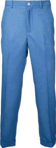 Plain Chinos Men Polyester 3, Blue
