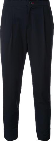 Tailored Cropped Trousers Women Polyester 36