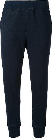 Tapered Track Pants Women Polyester 36, Blue