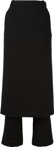 Apron Trousers Women Polyesterspandexelastanevirgin Wool 1, Women's, Black