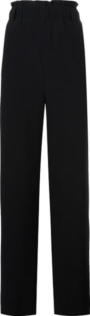 Lucio Vanotti High Rise Elasticated Waistband Trousers Women Cottonspandexelastanewool 2, Black