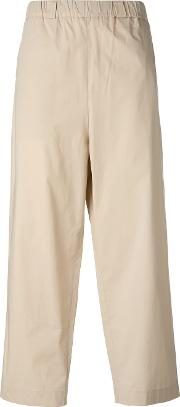 Wide Leg Trousers Women Cottonspandexelastane 2, Nudeneutrals