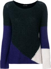 Colour Block Fitted Sweater