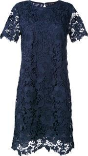 Lace Fitted Dress Women Polyester 38, Women's, Blue
