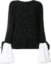 Layered Sleeve Detail Sweater