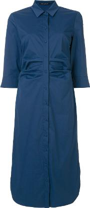 Ruched Shirt Waist Dress