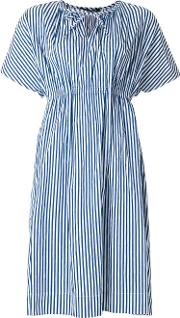 Striped Tie Neck Detail Dress