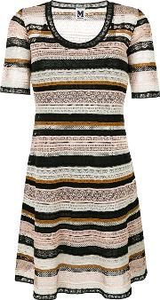 M Missoni Scoop Neck Knitted Dress Women Cottonpolyamidepolyesterviscose 44, Black
