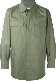 Button Up Field Jacket Men Cottonpolyamide 44, Green