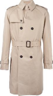 Double Breasted Trench Coat Men Cottoncuprowool 44