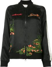 Aube Tour Bomber Jacket Women Silk 10, Black