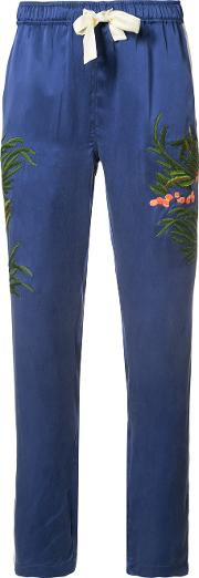 Aube Track Pants Women Silk 10, Blue