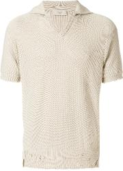 Holey Knit Polo Shirt