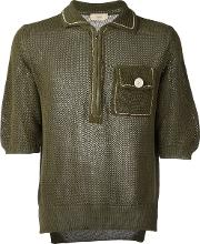 Knitted Mesh T Shirt Men Cotton 50, Green