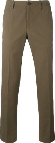 Chino Trousers Men Cotton 46, Brown
