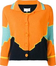 Colour Block Knitted Cardigan