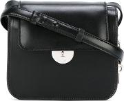 Structured Shoulder Bag Women Calf Leather One Size, Women's, Black