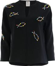 Crystal Embroidered Blouse
