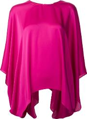 Relaxed Fit Blouse Women Polyester 34, Pinkpurple