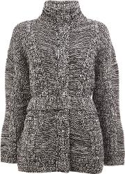 Padded Cardi Coat Women Cashmerewool Xs, Women's, Black