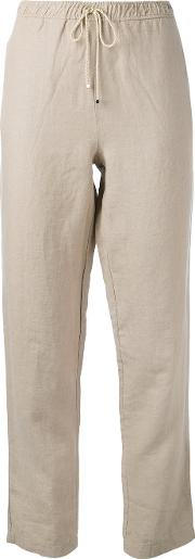 Cropped Trousers Women Cottonlinenflax I, Nudeneutrals