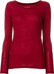 Majestic Filatures Round Neck Blouse Women Cashmere 2, Red