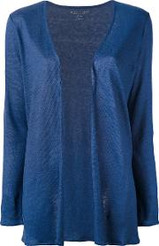 Open Front Cardigan Women Linenflax I, Blue