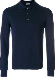 Long Sleeved Polo Shirt Men Cashmere