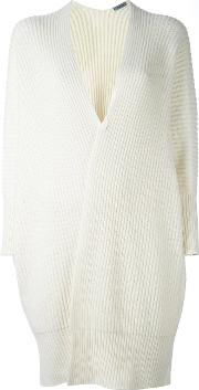 Ribbed Mid Cardigan Women Cashmere M