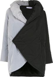 Contrasting Panelled Coat